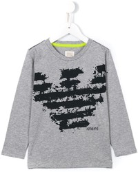 T-shirt imprimé gris Armani Junior