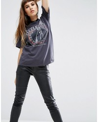 T-shirt imprimé gris Asos