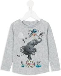 T-shirt imprimé gris Stella McCartney