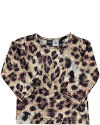 T-shirt imprimé léopard marron clair