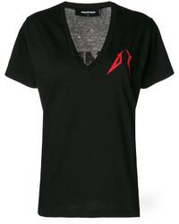 T-shirt imprimé noir Dsquared2