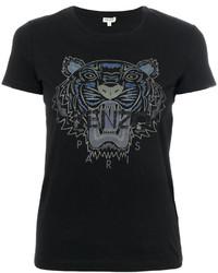 T-shirt imprimé noir Kenzo