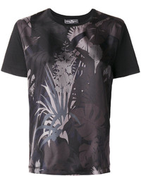 T-shirt imprimé noir Salvatore Ferragamo
