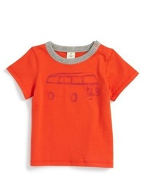 T-shirt imprimé orange