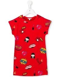 T-shirt imprimé rouge Little Marc Jacobs