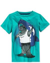 T-shirt imprimé turquoise