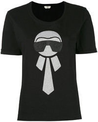 T-shirt noir Fendi