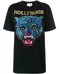 T-shirt noir Gucci