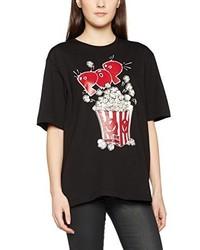 T-shirt noir Moschino