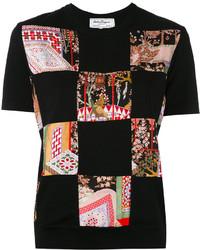 T-shirt noir Salvatore Ferragamo