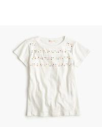 T-shirt orné blanc
