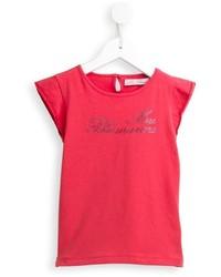 T-shirt orné rouge Miss Blumarine