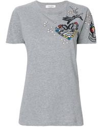T-shirt pailleté gris Valentino