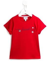 T-shirt rouge Armani Junior