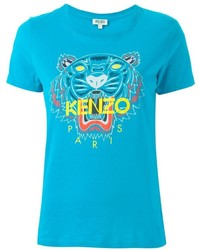 T-shirt turquoise Kenzo