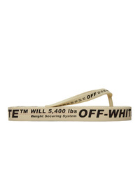 Tongs beiges Off-White