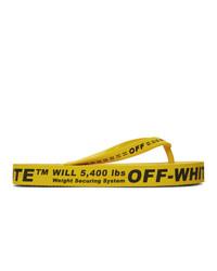 Tongs en caoutchouc jaunes Off-White