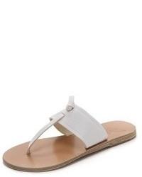 Tongs en cuir blanches Ancient Greek Sandals