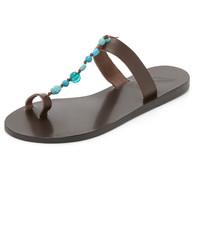 Tongs en cuir marron Ancient Greek Sandals