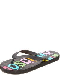 Tongs noires Moschino