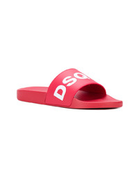 Tongs rouges DSQUARED2