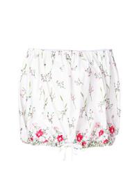Top à épaules dénudées à fleurs blanc MARQUES ALMEIDA