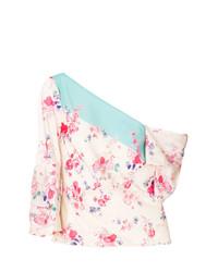 Top à épaules dénudées à fleurs rose Vilshenko