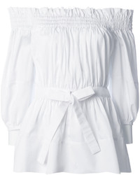 Top à épaules dénudées blanc Alexander McQueen