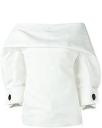 Top à épaules dénudées blanc Marni