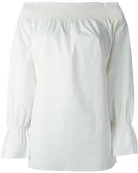 Top à épaules dénudées blanc MM6 MAISON MARGIELA