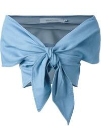 Top à épaules dénudées bleu clair MARQUES ALMEIDA