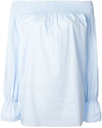 Top à épaules dénudées bleu clair MM6 MAISON MARGIELA
