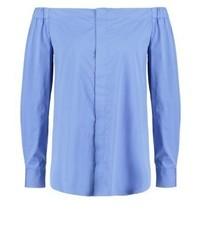 Top à épaules dénudées bleu clair Ralph Lauren