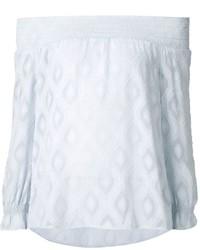 Top à épaules dénudées bleu clair Rebecca Minkoff