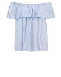 Top à épaules dénudées bleu clair Sparkz
