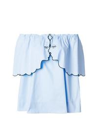 Top à épaules dénudées bleu clair Vivetta