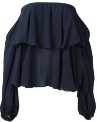 Top à épaules dénudées bleu marine Dondup