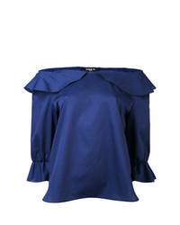 Top à épaules dénudées bleu marine Paule Ka