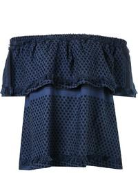 Top à épaules dénudées bleu marine