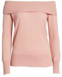 Top à épaules dénudées en tricot rose