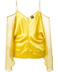 Top à épaules dénudées jaune Jean Paul Gaultier