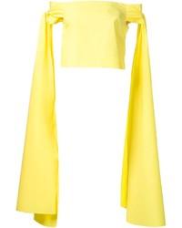 Top à épaules dénudées jaune Rosie Assoulin