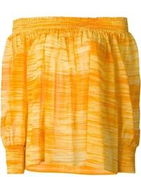 Top à épaules dénudées jaune Saint Laurent