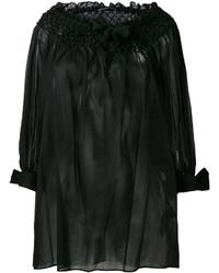 Top à épaules dénudées noir Ermanno Scervino