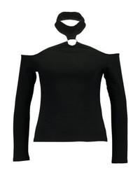 Top à épaules dénudées noir Even&Odd