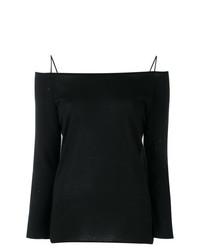 Top à épaules dénudées noir Fabiana Filippi