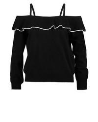 Top à épaules dénudées noir Moschino