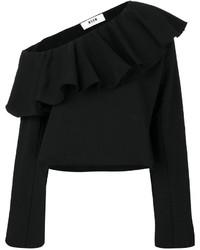 Top à épaules dénudées noir MSGM