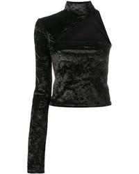Top à épaules dénudées noir Off-White