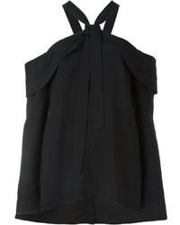 Top à épaules dénudées noir Proenza Schouler